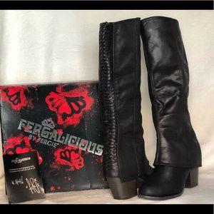 Heeled knee length boots
